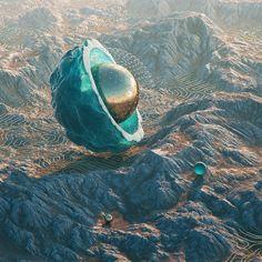 #shell #cinema #4d #c4d #cinema4d #octane #render #octanerender #photoshop #daily #3d #gfx #graphics #graphic #design #abstract #art #surreal #bronze #landscape #desert #canyon #diffuse #geometry #mountain #organic #realistic #mist #rsa_graphics by hoodass