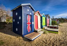 Mornington Beach: Not so many beach boxes or tourists as on Brighton Beach but perhaps a better location for photography. Sony with the incredibly and wide and very sharp SEL 1018 Best Location, Brighton, New Zealand, Places Ive Been, Beach House, Shed, Outdoor Structures, Landscape, Outdoor Decor