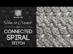 For written instructions and photos please visit: http://newstitchaday.com/how-to-crochet-the-connected-spiral-stitch/   This video crochet tutorial will help you learn how to crochet the connected spiral stitch.   The connected spiral stitch creates a spiral like design. The connected spiral stitch would be great for blankets, scarves, and hats...