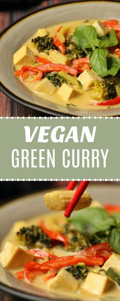 Creamy and deliciously spicy vegan green curry. This veggie-packed Thai green curry is wonderfully rich and satisfying and super easy to make. | lovingitvegan.com