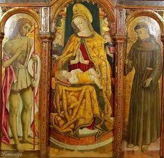 Vittore Crivelli - Pentittico di Capodarco, dettaglio - Capodarco di Fermo, chiesa di Santa Maria