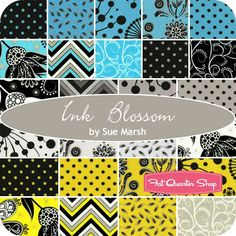 Ink Blossom Entire Collection Fat Quarter BundleSue Marsh for RJR Fabrics - Fat Quarter Bundles | Fat Quarter Shop