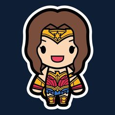"""""""Wonder Girl"""" T-Shirt by artist Papyroo Drawing Superheroes, Marvel Drawings, Chibi Marvel, Marvel Heroes, Comic Character, Character Design, Wonder Woman Fan Art, Chibi Coloring Pages, Avengers Cartoon"""