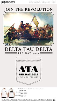 Delta Tau Delta Bid Day Shirt | Fraternity Bid Day Shirt | Greek Bid Day Shirt #deltataudelta #dtd #bid #day #shirt #picture #design