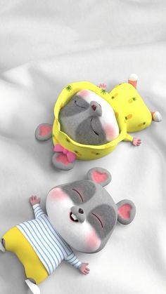 Rabbit Wallpaper, Chibi Wallpaper, Retro Wallpaper, Colorful Wallpaper, Baby Mouse, Cute Mouse, Cute Rabbit Images, Cute Bunny Cartoon, Baby Pillows
