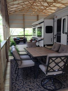 RV Patio Ideas – Patio is a great place to hang out with your family members and friends. trailers Camping has reinv. Trailers Camping, Rv Trailers, Camping Ideas, Camping Hacks, Best Travel Trailers, Camping Outdoors, Rv Travel, Rv Shelter, Trailer Deck