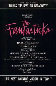 The Fantasticks #musicals