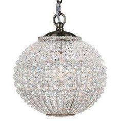 Crystorama Newbury 1 Light Crystal Sphere Brass Mini Chandelier   Sphere   Chandeliers   Lighting   Candelabra, Inc.