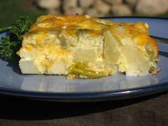 Cheesy Potato and Green Chili Breakfast Casserole