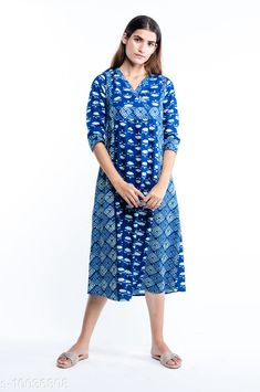 Checkout this latest Nightdress Product Name: *kasya Comfy Jaipur Cotton Nighties * Fabric: Cotton Sleeve Length: Three-Quarter Sleeves Pattern: Printed Multipack: 1 Sizes: XS (Bust Size: 38 in, Length Size: 47 in)  Country of Origin: India Easy Returns Available In Case Of Any Issue   Catalog Rating: ★4 (342)  Catalog Name: kasya Stylish Women Nightdresses CatalogID_1794382 C76-SC1044 Code: 994-10036808-0921