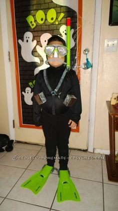 We made the coolest scuba diver costume for Halloween this year. It even glowed!!! Our son was the happiest kid in town.  It started back in the...