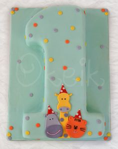 Nuber One cake - First birthday cake