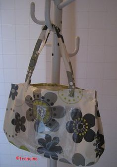 """Le sac """"Thalasso"""" en toile cirée fleurie (avec son tuto)"""
