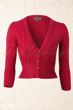 Fever - 50s Mariel Cardigan in Red - with they had this in more colors.  and in my size.  Sigh.