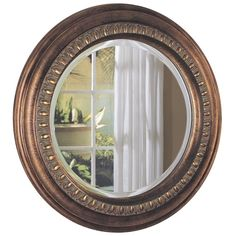 Bring elegant design into your home with the Coaster Bronze Mirror. The round shape and large size make it ideal for use as a decoration or for doing that last minute look-over before heading out.