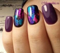 Several nail polish designs and color palettes for Fall, Winter, Spring