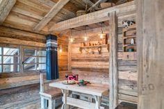 Photograph gallery of the luxury ski chalet, La Grange au Merle, by Clarian Chalets. Includes views over the charming ski resort village of Chatel. Alpine Chalet, Swiss Chalet, Snowy Forest, Morning View, Underfloor Heating, Old Wood, Wood Paneling, Skiing, Farmhouse