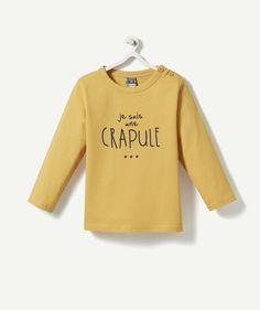 Un pull en coton doux pour votre petite crapule - 4,99 € http://www.t-a-o.com/mode-bebe-garcon/tee-shirt/la-brassiere-galaxie-moutarde-72258.html