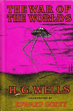 In 1960, beloved mid-century pen-and-ink slinger Edward Gorey, born 88 years ago today, illustrated H. G. Wells's The War of the Worlds – two classic masters of the macabre and wonderful, together at last.