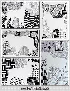 Doodle silhouetter, Fru Billedkunst