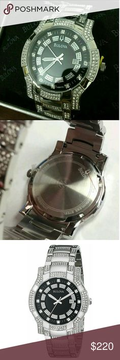 Big sale,NWT Bulova $650 Crystal watch Brand $650 New Bulova Crystal Black Dial Stainless Steel Men's Watch   Firm Price firm Price firm Price  $399.00  . AUTHENTIC WATCH  . AUTHENTIC BOX  . AUTHENTIC MANUAL   SHIPPING  PLEASE ALLOW FEW BUSINESS DAYS FOR ME TO SHIPPED IT OFF.I HAVE TO GET IT FROM MY WAREHOUSE   THANK YOU FOR YOUR UNDERSTANDING Bulova Accessories Watches