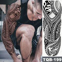 Fake Tattoo Sleeves, Temporary Tattoo Sleeves, Tattoos For Women Half Sleeve, Tribal Sleeve Tattoos, Arm Sleeve Tattoos, Tribal Tattoos For Women, Samoan Tribal Tattoos, Tribal Tattoo Designs, Viking Tribal Tattoos