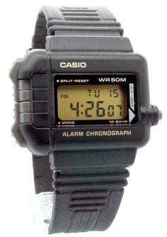 Casio - WN-10-1V - Montre Homme - Quartz Digitale - Alarme/Chronomètre - Bracelet Caoutchouc Noir: Amazon.fr: Montres