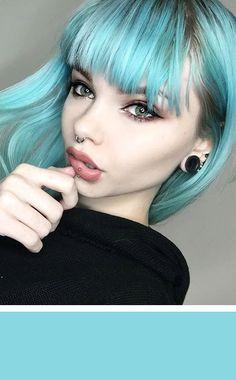 Pastel Turquoise Hair Dye by Lunar Tides