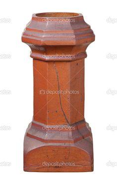 alten viktorianischen Schornstein isoliert mit einem Beschneidungspfad — Stockdatei #8191475
