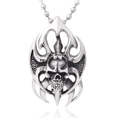 Moon Wings Vintage Fire Skull Punk Stainless Steel Pendant with Necklace Moon Wings http://www.amazon.com/dp/B00GW9BLUG/ref=cm_sw_r_pi_dp_shA3vb15XJJ65