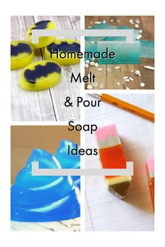 These Homemade Melt and Pour Soap Ideas make the perfect DIY homemade gift! From a coffee scrub, to Batman, there is something for everyone! Homemade Bar, Homemade Soap Recipes, Homemade Gifts, Diy Gifts, Soap Tutorial, Cool Diy Projects, Craft Projects, Diy Ombre, Mermaid Diy