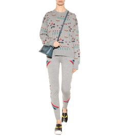 ultimate comfort. Multicoloured knitted cashmere trousers