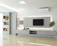 Modern Tv Room, Modern Tv Wall Units, Living Room Modern, Home Living Room, Wall Unit Designs, Living Room Tv Unit Designs, Küchen Design, Design Case, Design Ideas
