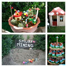 Smurf-party-activities-and-mushroom-party-favors-with-smurf-house.jpg (768×768)