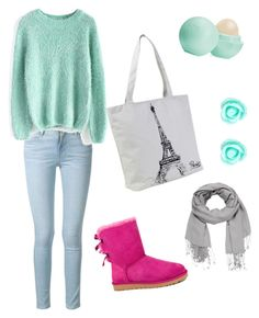 Untitled #4 by dimitrova28 on Polyvore featuring polyvore fashion style Chicwish Frame Denim UGG Australia Monsoon maurices Eos clothing