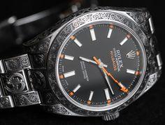 Rolex milgauss intarsiato special edition