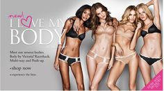 This advertisement of women's under garmets and it clearly communicates that women should be skinny and have a good body. It makes other women change the way they think about themselves and makes them insecure.