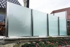 Glas Edelstahl Sichtschutz Densa Winddicht Bis 2.000 Mm Höhe