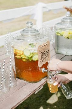 pimms and lemonade after ceremony