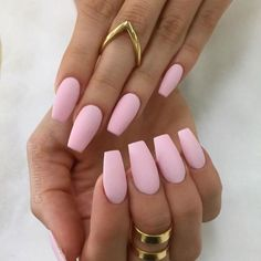 A manicure is a cosmetic elegance therapy for the finger nails and hands. A manicure could deal with just the hands, just the nails, or Summer Acrylic Nails, Best Acrylic Nails, Acrylic Nail Designs, Matte Nails, Dark Nails, Light Pink Acrylic Nails, Matte Nail Colors, Stiletto Nails, Acrylic Nails Almond Matte