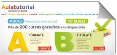 Aulatutorial, más de 200 cursos online y gratuitos