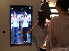 interactive mirror - COOL!