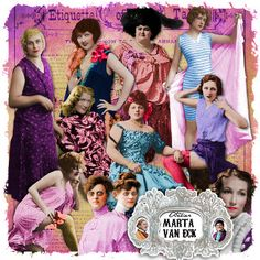 Misfit Dollhouse Characters pack by Marta Van Eck @ Mischief Circus. A digital image kit for your art, mixed media, collage, ATCS, photo manipulation and scrapbooking.