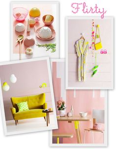 Pastels, Natural Wood, Neon and Hints of Copper by decor8, via Flickr
