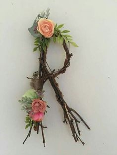 Hobbies For Seniors Twig Crafts, Nature Crafts, Diy And Crafts, Rustic Wall Letters, Letter Wall, Letter Board, Rustic Nursery, Woodland Nursery, Nursery Letters