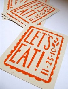 Linocut Typography.
