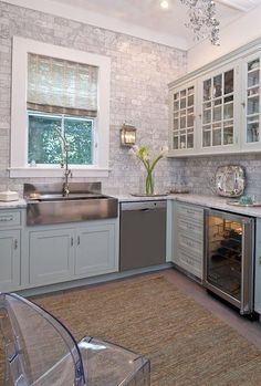 Love the idea of tiling a whole wall and not just a midsection backsplash.