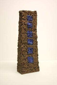 Six Blue Squares by Roni Downey, Sculpture - Ceramic | Zatista