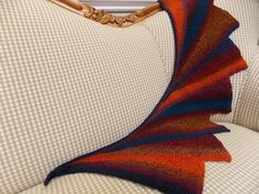"""Kathie's """"Wingspan,"""" knit in Schoppel-Wolle Crazy Zauberball."""