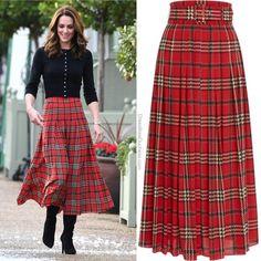 Style Me, Cool Style, Emilia Wickstead, Kate Middleton Style, William Kate, Duchess Of Cambridge, Tartan, Royals, Midi Skirt